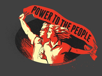 Power To The People orwell typography propaganda illustration tshirt soviet propaganda soviet union people propaganda style communist russia russian soviet ussr vintage retro history communism socialism power
