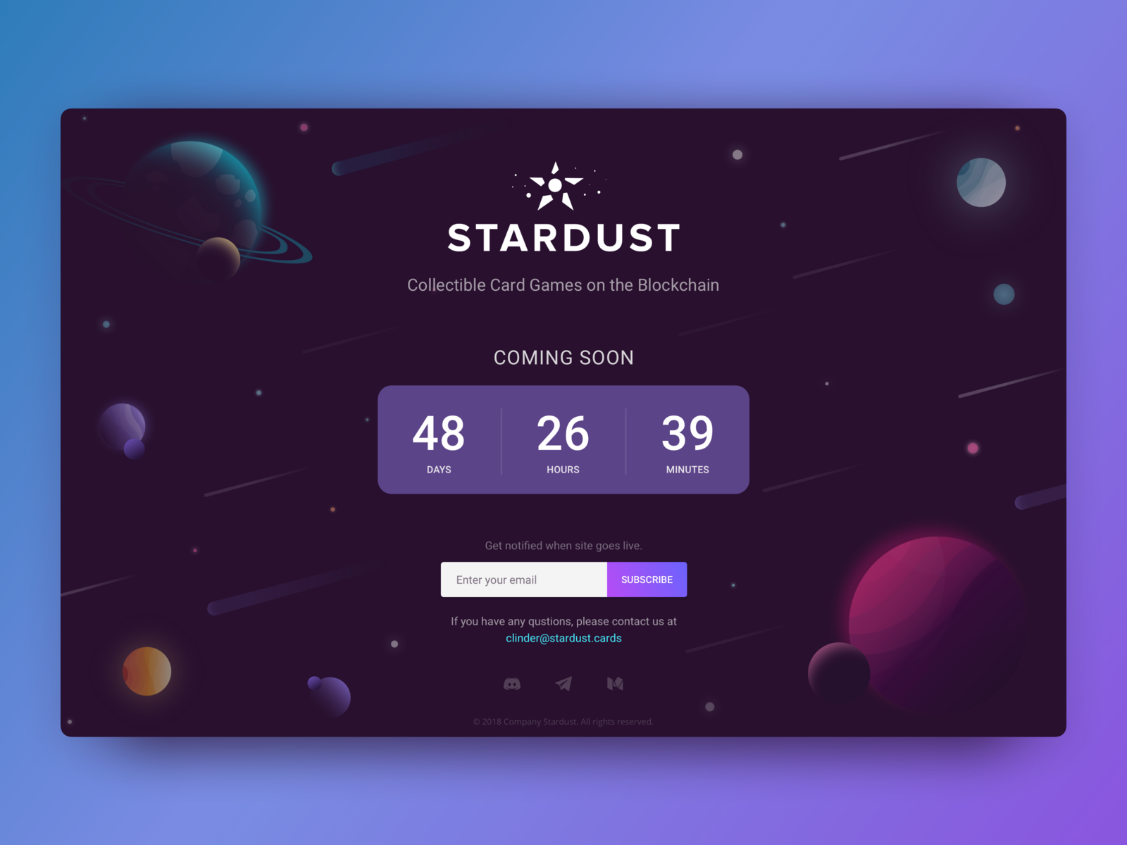 In construction page sketch app timer webdesig illustraion cosmos space planet coming soon ui deisgn ux design in construction block chain