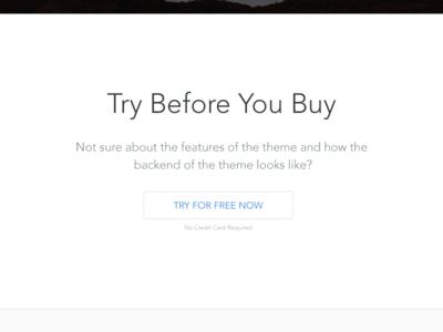 Try Before You Buy - Minimal Version minimal wordpress trial try