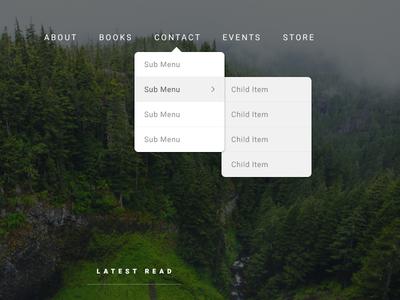 DropDown Navigation menu front end ui menu navigation nav dropdown