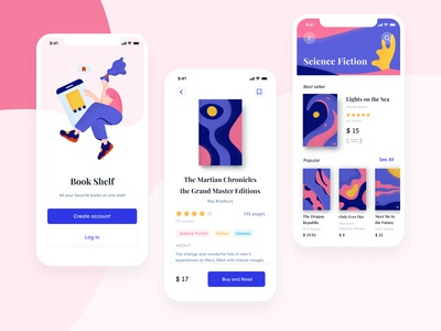 Book app mobile app mobile illustration art ux ui book app card redesign colorful clean flame reading reading app bookstore bookshelf