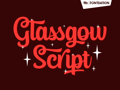 Glassgow Script typework branding script vector typography logotype logo typeface lettering font