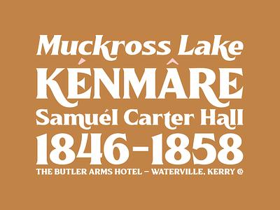 Killarney Typeface 2 vintage design branding vector typework logo typography typeface lettering font
