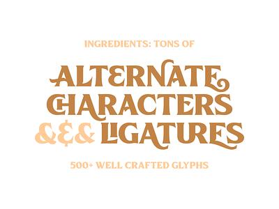 Killarney Typeface 3 logo illustration vector branding vintage lettering typography typework typeface font
