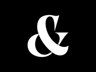 Ampersand Exploration wordmark symbol ampersand logo typework typeface font lettering vector typography