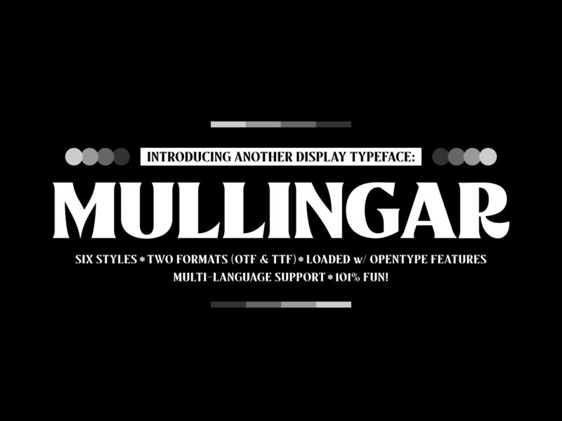 Mullingar Preview illustration vector lettering branding editorial poster typework typeface typography font