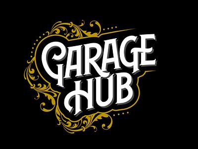 Garage Hub Typework classic logotype logo branding vintage font typeface typework lettering vector typography