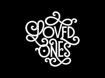 Loved Ones branding illustration vintage logotype logo typework font typography lettering vector