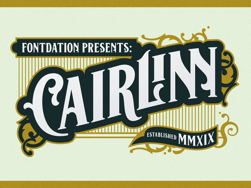 Cairlinn Poster 1 vector illustration branding classic logo lettering typography vintage typeface font