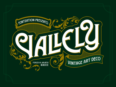 Vallely Font tattoo branding logotype vintage logo vector lettering typography typeface font