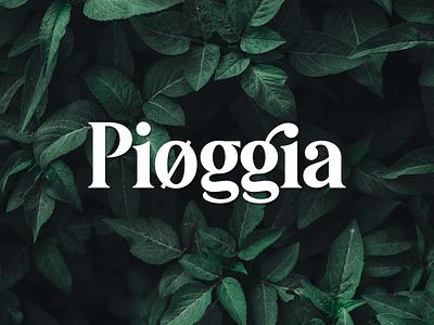 Pioggia | Modern Serif ui lettering branding logotype logo typework typography vector typeface font