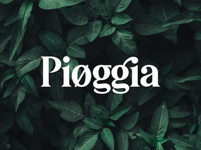 Pioggia   Modern Serif ui lettering branding logotype logo typework typography vector typeface font
