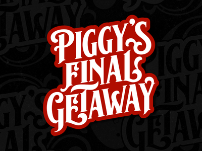 Piggy's Typework branding classic logotype logo vintage typework font lettering vector typography