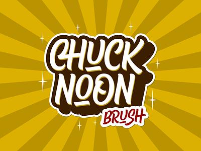 Chuck Noon Brush branding script logotype logo lettering vector typework typeface font typography