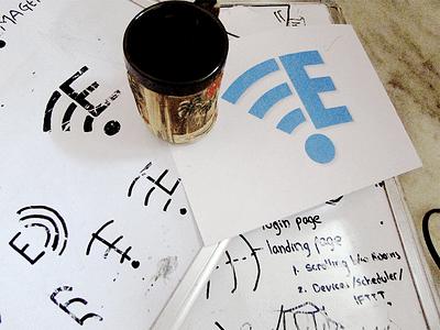 Logo Design Trials and Experiments render backlit mockup coffee geometry brand minimal invite sketch advertisement logo wifi