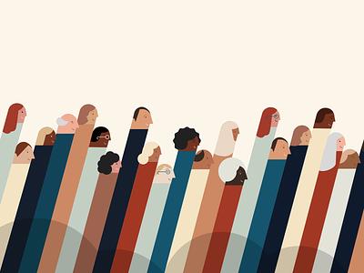 Tube people vintagecolors tubepeople unity diversity people sketch