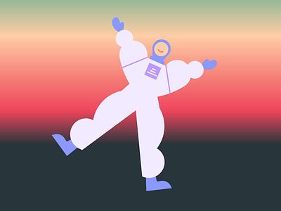 Spaceman gradient astronaut illustration