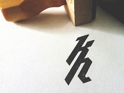 Kristian Hay Monogram Final branding logo mark vancouver identity monogram personal typography type rubber stamp kristian hay