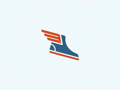 Flying Shoe america achilles shoe branding identity logo
