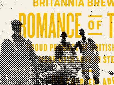 BBCO - Romance of The Sea type beer agency art direction packaging identity branding vancouver brewery nautical typography knockout