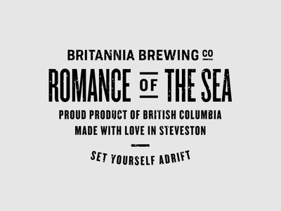 BBCO - Romance of The Sea Typography knockout typography nautical brewery vancouver branding identity packaging art direction agency beer type