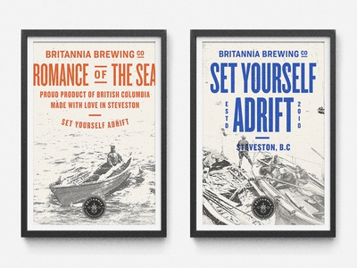 BBCO - Poster Designs type beer agency art direction packaging identity branding vancouver brewery nautical typography knockout