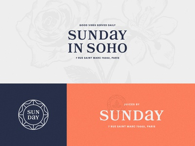 Sunday in SoHo - Brand Elements type restaurant agency art direction packaging identity branding vancouver paris typography illustration