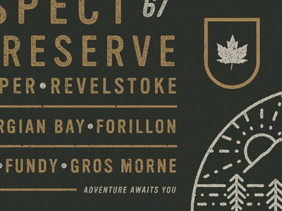 Adventure Awaits - WIP illustration canada parks nature national vancouver branding identity art direction agency type
