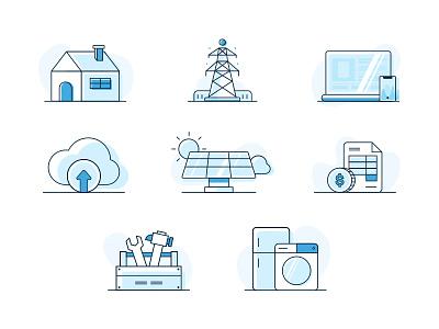 Smart Home Illustrations electricity smart home ui illustration icon design art direction branding vancouver identity