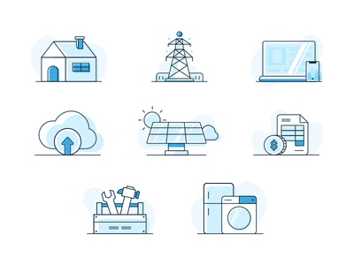 Smart Home Illustrations electricity smart home ui illustration icon design art direction branding vancouver identity