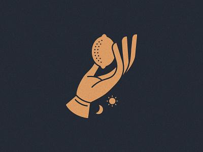 The Lemon Grail selfcare beauty lemon illustration icon mark logo vancouver branding identity