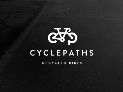 Cyclepaths Logo (Final) cyclepaths cycling biking bike cycle green recycle bikes vancouver company logo branding mark brand sustainable ecofriendly