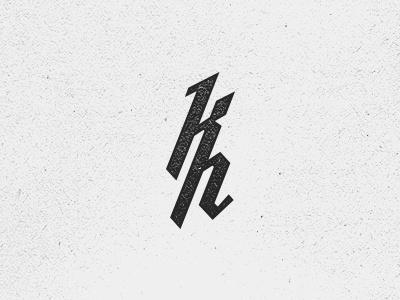 Kristian Hay Monogram V.2 branding logo vancouver mark identity self personal kristian hay monogram ligature icon symbol