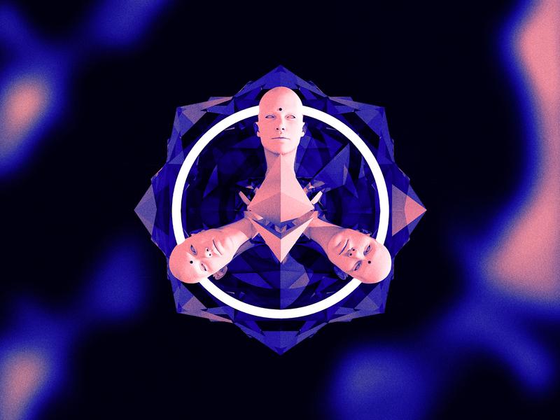 Ethereal Virtual Summit Emblem surreal gradient texture cinema 4d c4d ethereum