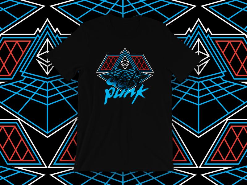 DeFi Punk ethereum design geometry illustration branding swag definition symmetry retro geometric ripoff daft punk defi