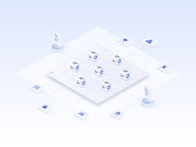 Chainlink 2.0 and the future of Decentralized Oracle Networks design visual identity branding defi smart contract hero whitepaper metalayer crypto vector visual design illustration decentralization oracles smart contracts chainlink technology tech isometric blockchain