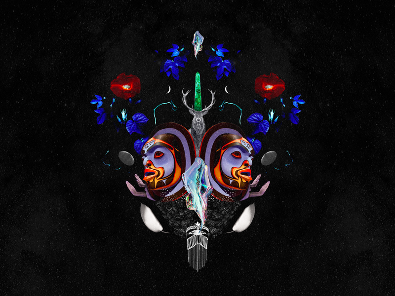 Divine Spark surrealist psychedelic surreal collage digital