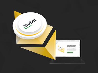 TruSet - Trusted token data for the Web3 ecosystem compass trust web3 web ether diamond truset ethereum blockchain illustration digital