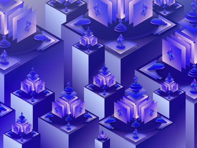 A Killer Ecosystem design isometric shared economy visual art surreal decentralization cryptocurrency illustration digital future blockchain ethereum