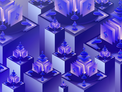 A Killer Ecosystem design isometric shared economy visual art surreal decentralization cryptocurrency illustration digital future blockchain ethereum