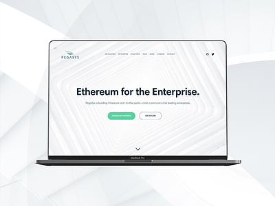 pegasys.tech business fintech blockchain enterprise web design ethereum