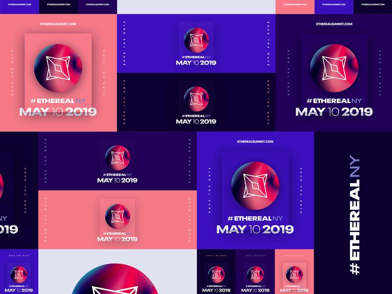 Ethereal Summit New York • 2019 color block modular future digital brand marketing event conference blockchain ethereal design branding visual identity