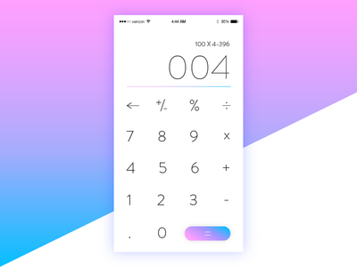 Daily UI 004 - Calculator 004 mockup iphone 6 button ui calculator purple blue pink gradient challenge daily ui