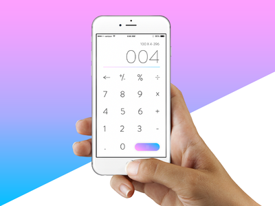 Daily UI 004 - Calculator 004 mockup iphone 6 button ui calculator purple blue pink gradient challenge daily ui