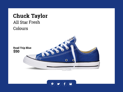 Daily UI - 010   Social Share  010 social share share social buttons converse chuck taylors challenge ui blue daily ui