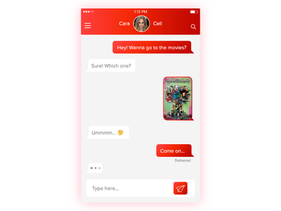 Daily UI 013 - Direct Messaging layout suicide squad messages buttons gradient ui direct messaging 013 daily ui