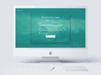 Membership Login logo apple mac desktop call to action shadow clouds teal green log in membership log in