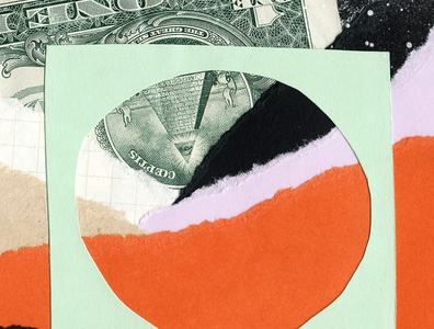 Collage Illustration money paper collage