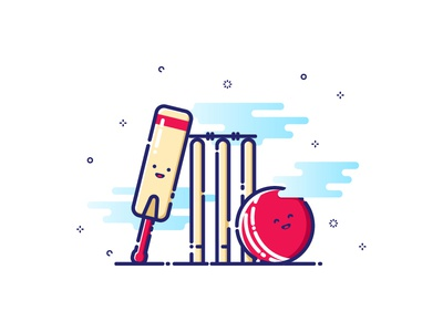 Cricket vector cricket sport illustration mbe style mbe