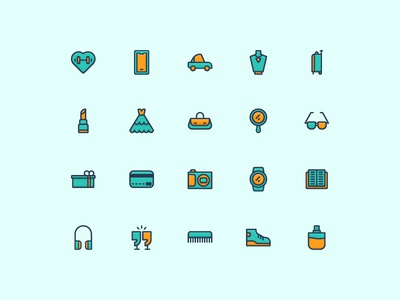 Lifestyle Icons vector illustration design filled outline lifestyle ui outline icon set iconography icon